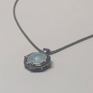 Sterling necklace with stone